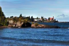 Red Light Lighthouse Stock Photo