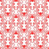 Red Light Flames Seamless Wallpaper. Red light paths forming abstract hot flames. Seamless texture background pattern Royalty Free Stock Photos