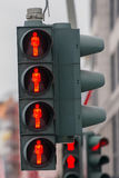 Red light pedestrian traffic light Royalty Free Stock Photography