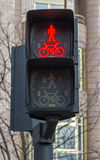 Red light for pedestrians and cyclists Stock Image