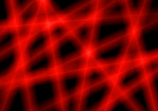 Red light rays Royalty Free Stock Images