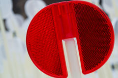 Red light reflector macro Royalty Free Stock Image