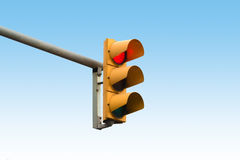 Red light signal showing. Stop red light signal showing Royalty Free Stock Photos