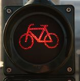 Traffic light for crossing the street stock photography