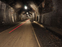 Red Light Streak in Tunnel on Monsal Trail Stock Photos