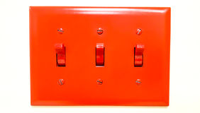 Red light switch Stock Photography
