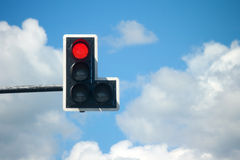 Red light traffic lights Stock Images