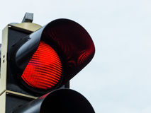 Red light at traffic lights Royalty Free Stock Image