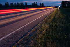Red Light Trails Royalty Free Stock Images