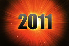 Red light wallpaper for 2011. Red light rays wallpaper to celebrate 2011 vector illustration