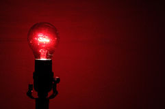 Red Lightbulb Royalty Free Stock Photo