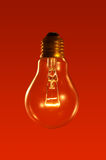 Red lightbulb Royalty Free Stock Images