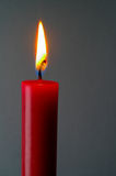 Red lighted candle Royalty Free Stock Photos