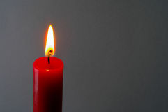 Red lighted candle (2) Royalty Free Stock Photo