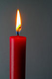 Red lighted candle with clipping path Stock Photos
