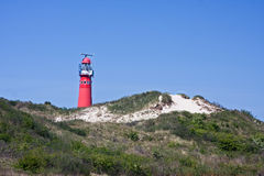 Red lighthouse Royalty Free Stock Photography