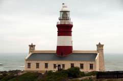 Red lighthouse. At Cape Aghulas Royalty Free Stock Photo