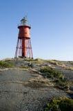 Red lighthouse Stockholm archipelago Stock Image
