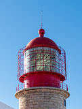 Red Lighthouse on the Background of Blue Sky Stock Photography