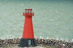 Red Lighthouse. Lighthouse in the Baltic Sea near Gdansk, Poland Stock Photos