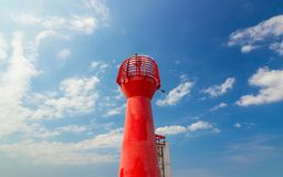 Red lighthouse on the Baltic Sea Royalty Free Stock Image