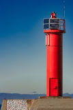 Red lighthouse royalty free stock image