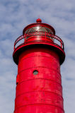 Red lighthouse close up Royalty Free Stock Photography