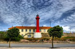 Red lighthouse in Esposende Royalty Free Stock Photography