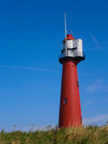 Red Lighthouse in Europoort,  Holland Royalty Free Stock Images