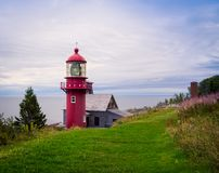 Free Red Lighthouse In Gaspe, Quebec Stock Photos - 114013813