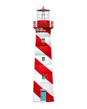 Red Lighthouse Isolated vector illustration