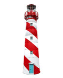 Red Lighthouse Isolated. On white background. 3D render Stock Photography