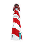 Red Lighthouse Isolated royalty free illustration