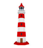 Red Lighthouse Isolated. On white background. 3D render Stock Photos