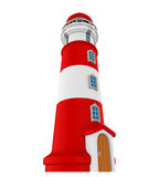 Red Lighthouse Isolated. On white background. 3D render Royalty Free Stock Photography