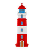 Red Lighthouse Isolated. On white background. 3D render Royalty Free Stock Images