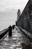 Red lighthouse of la Chaume Royalty Free Stock Photography