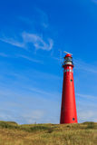Red lighthouse landscape Royalty Free Stock Photography