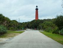 Red lighthouse at the museum Stock Photography