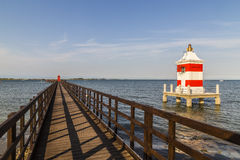 The Red Lighthouse Pier Royalty Free Stock Photos