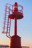 Red lighthouse of San Benedetto del Tronto Stock Photo