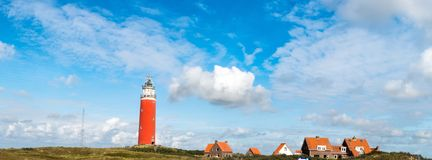 Red lighthouse in Texel royalty free stock photos