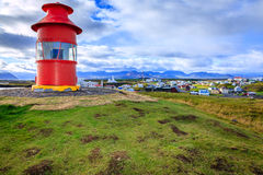 Red lighthouse Stock Image