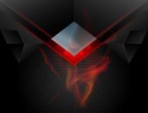 Red lighting metal scene vector Stock Photos