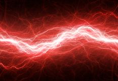 Red lightning Stock Photography