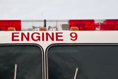 Red lights. Fire fighter truck lights detail Royalty Free Stock Photos