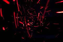 Red lights abstract Stock Photo