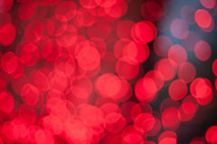 Red lights bokeh Stock Photography