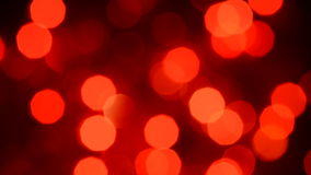 Red lights bokeh stock video footage