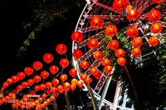 Red lights Brisbane royalty free stock image